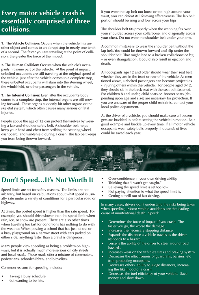 Be Responsible on the Road Tip Sheet-2