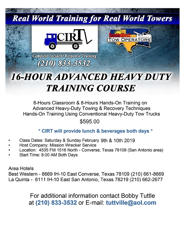 x CIRT FLYER -- Level C 16 hour Adv HD Class-1